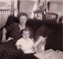 photo of news readers R.B. Stepno and grandmother, by R.S. Stepno